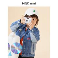 【2件3折后价:146】MQD童装男小童2021春装新款牛仔外套上衣宽松男生小孩子