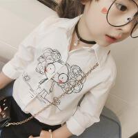 女童衬衫童装长袖上衣宝宝韩版衬衣小女孩衣服春装2018新款C898 P
