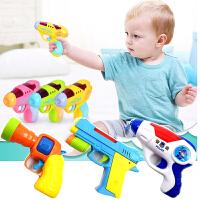 小孩迷你投影电动枪声光男孩耐摔塑料儿童警察宝宝玩具枪1-2-3岁