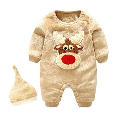 女婴儿连体衣冬季保暖连帽宝宝抱衣服秋冬装新生儿外出棉衣 发货周期:一般在付款后2-90天左右发货,具体发货时间请以与客服协商的时间为准