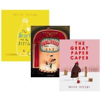 正版现货 智慧小孩系列3册 英文原版绘本 Oliver Jeffers书单 吃书的孩子/大熊的纸飞机/瓶子里的心 远在