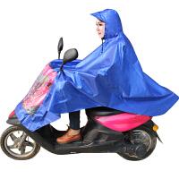 龙豹 LB137 十字提花电动摩托车加厚加长雨衣雨披大帽檐