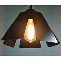 灯的艺术与设计 现代简约铁艺吧台餐厅吊灯卧室客厅书房灯具zl 黑色
