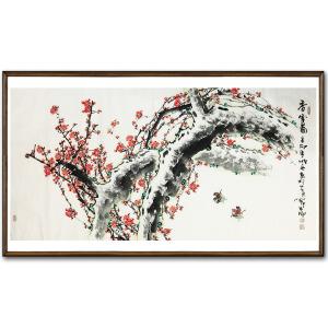 刘顺兵《香雪图之一》著名花鸟画家