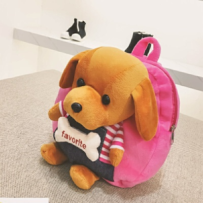 卡通动物小狗书包立体毛绒背包1-3-5岁儿童幼儿园小班包包双肩包 发货周期:一般在付款后2-90天左右发货,具体发货时间请以与客服协商的时间为准