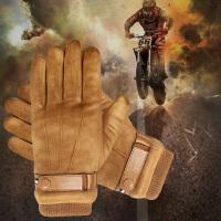手套男冬季保暖防水触屏加绒加厚防风韩版骑车开车麂皮绒全指手套