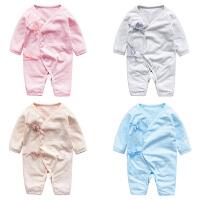 婴儿连体衣服冬季0岁6个月冬装新生儿宝宝可爱加厚童睡衣