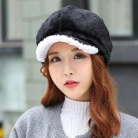 时尚显瘦秋冬休闲百搭帽女士帽子韩版潮贝雷帽加厚保暖鸭舌帽