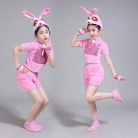 六一元旦儿童小兔子表演服装小白兔演出服兔子卡通服小动物舞蹈服