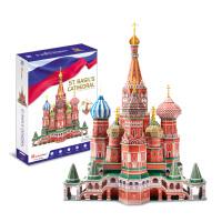俄罗斯瓦西里大教堂创意手工拼装玩具3D立体拼图建筑模型