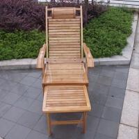 竹子躺椅折叠睡椅办公室午休午睡阳台休闲椅实木老人靠背椅子竹椅
