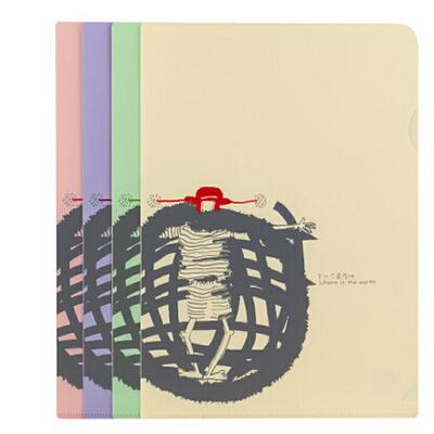 树德 小红帽Y206 清新韩版试卷套/资料套/L型插页文件套夹/袋 正品树德 文件管理助手