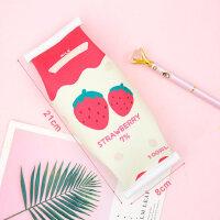 个性创意零食造型笔袋简约韩国风文具袋男女生初中生大小学生小清新可爱笔盒大容量卡通搞怪趣味潮零食草莓盒