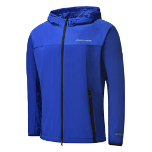 【超值低价直降】361度新款男子针织图案保暖单风衣综训运动字母防风服运动服