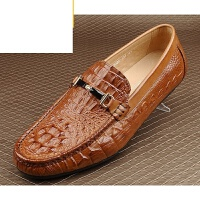 CUM春季鳄鱼纹豆豆鞋男士英伦男鞋子日常休闲皮鞋潮流驾车懒人鞋