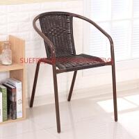 塑料大藤椅麻将椅餐椅凳办公电脑椅靠背椅子休闲椅围椅椅子 配坐垫