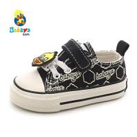 芭芭鸭儿童帆布鞋男童板鞋学步鞋软底小宝宝鞋1-3岁女童布鞋卡通