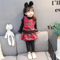 女童洋气时尚套装裙小童小女孩衣服女宝宝韩版春装2潮0-1-3岁春季
