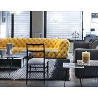 美式乡村真皮沙发牛皮客厅别墅小户型组合后现代轻奢复古拉扣沙发