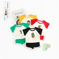 男童女童洋气运动套装宝宝时尚夏天衣服小童夏装婴儿童装0潮1-3岁