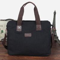 户外男包 手提包横款休闲商务包公文包帆布单肩斜挎包休闲包