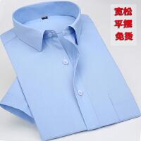 中老年男薄款长袖白衬衫夏季爸爸装老年人宽松短袖衬衫 白色 长袖