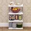 索尔诺置物架 厨房层架塑料落地收纳储物架 浴室客厅整理架子四层Z614