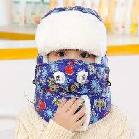 韩版潮时尚防风加厚保暖滑雪帽子男女童防寒帽护耳儿童雷锋帽