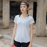 宽松跑步运动短袖女上衣夏季速干超轻透气反光健身服T恤健身房薄