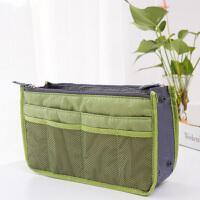 普润 包中包内胆包收纳袋化妆包便携洗漱袋女包手拿收纳包 绿色