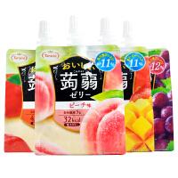 日本进口零食Tamari多良见�X�m果冻150g 多口味魔芋果汁果冻布丁吸吸冻
