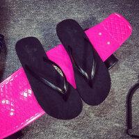 防滑平底凉拖鞋情侣夹脚沙滩鞋夹趾拖鞋韩版凉拖人字拖外穿女