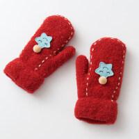 儿童手套女冬季保暖加厚款6-8岁小女孩手套女冬可爱韩版
