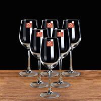 350ML红酒杯套装四只装家用醒酒器玻璃酒杯架高脚杯酒具杯子