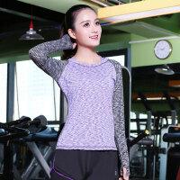 韩版瑜伽服女士上衣显瘦紧身弹力透气速干跑步运动健身衣休闲T恤
