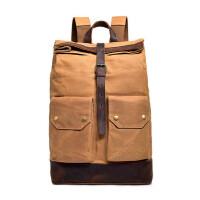 男包双肩包帆布手提复古旅行包大容量行李包单肩斜挎休闲包