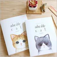 苏铁时光记事本 萌猫新款A5 B5款活页本创意笔记活页本子学生用品笔记本活页夹