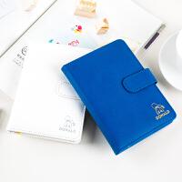 广博A6皮面笔记本记事本子日记本迪士尼唐老鸭蓝色IQT11201