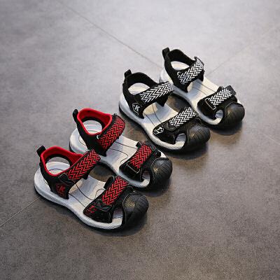 童鞋男童夏季儿童沙滩鞋宝宝镂空网鞋中大童包头凉鞋
