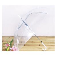 时尚创意透明雨伞公主伞 晴雨伞 绿色