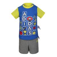 adidas阿迪达斯2019男婴童IB CD TEE SET CLIMA系列短袖套服DZ2411