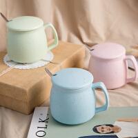 创意陶瓷杯 杯子 牛奶杯水杯情侣杯咖啡杯对杯带盖勺子马克杯