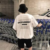 2018欧美街头港范ins好看原宿风短袖字母印花男女T恤