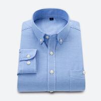 牛津纺衬衫 男士长袖新款韩版潮流青年修身衬衣