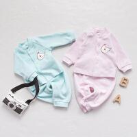 婴宝宝衣服儿童套装01岁2个月季衣服新生儿冬装春款外出服