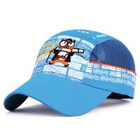 儿童帽子夏天新款小学生棒球帽男女孩卡通网帽防晒遮阳速干鸭舌帽