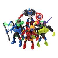 复仇者联盟钢铁侠美国队长蝙蝠侠绿巨人偶公仔 拼装玩具 益智礼物