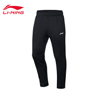 李宁卫裤男士2019新款跑步系列加绒裤子男装平口针织运动长裤