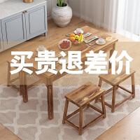 定制实木碳化饭店餐桌快餐餐桌面馆火锅烧烤小吃桌椅组合 60*60*73【单桌子】