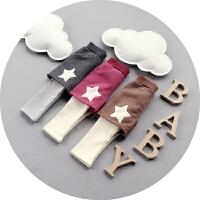 男童裤子秋冬纯棉可开裆婴儿假两件棉裤1-2-3岁宝宝韩版加绒加厚